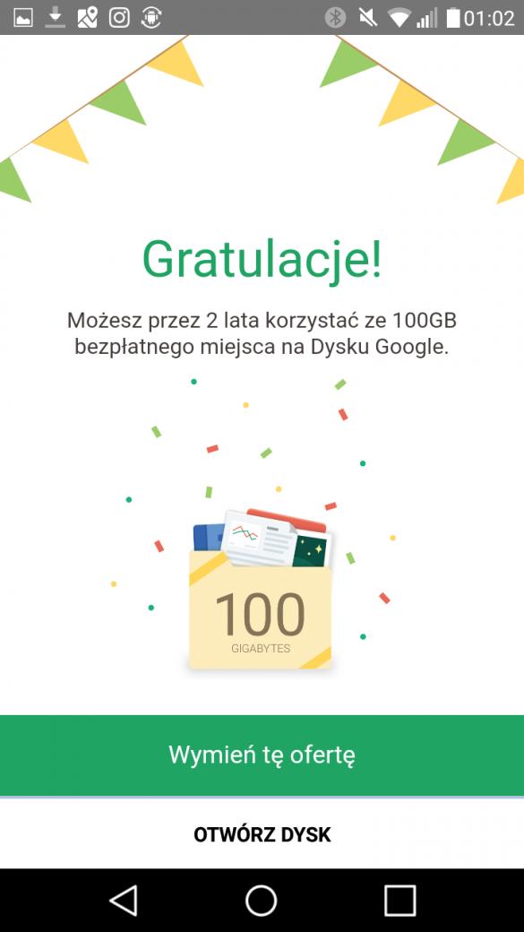 Bonus od LG z X Power to 2 lata ze 100GB na Dysku Google! - 90sekund.pl