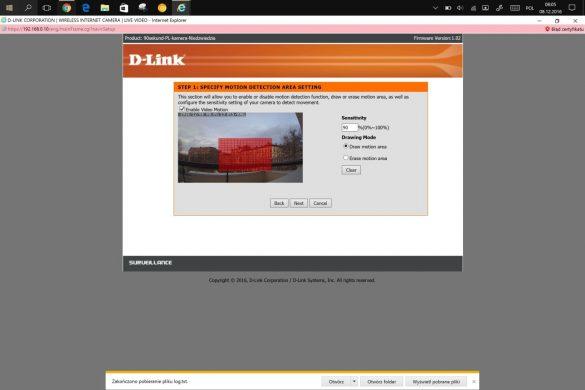 Ustawienia Zaawansowane kamery D-Link DCS-936L - recenzja 90sekund.pl