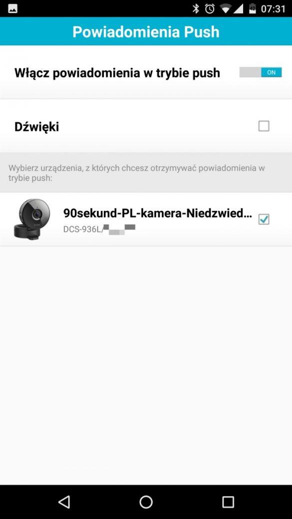 Aplikacja mobilna MyDlink do obsługi kamery D-Link DCS-936L - recenzja 90sekund.pl