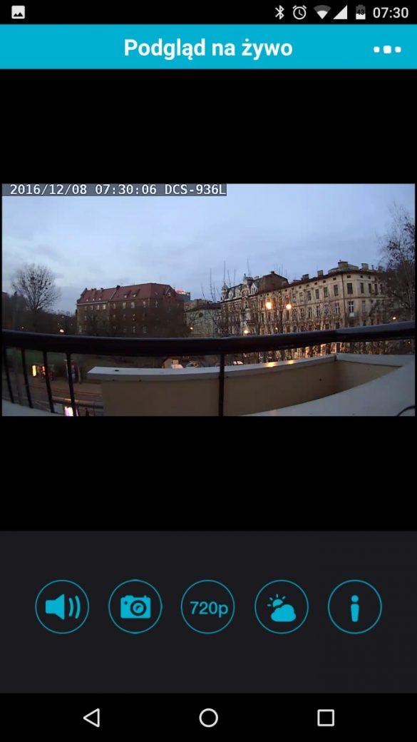 Aplikacja mobilna MyDlink do obsługi kamery D-Link DCS-936L - recenzja 90sekund.pl - Zwykły widok