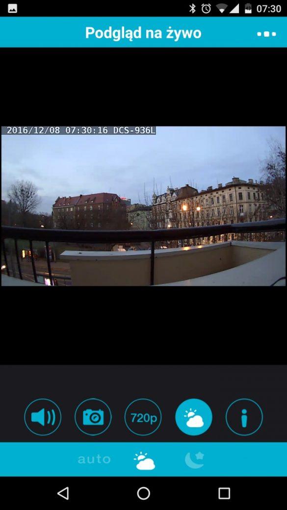Aplikacja mobilna MyDlink do obsługi kamery D-Link DCS-936L - recenzja 90sekund.pl - tryb wykrywania pory dnia