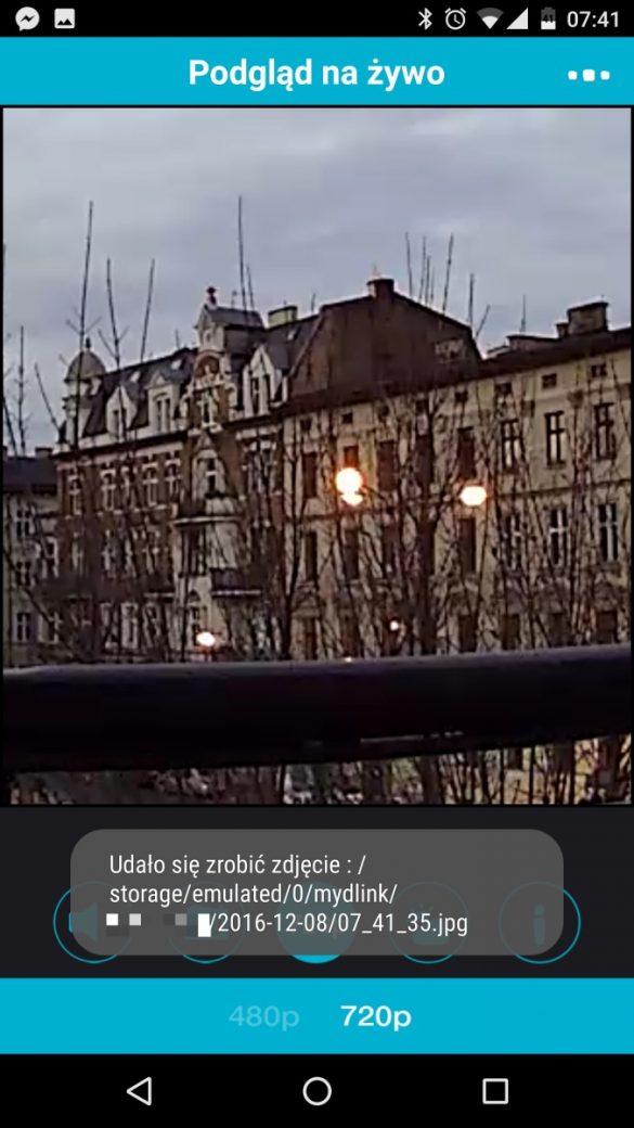 Aplikacja mobilna MyDlink do obsługi kamery D-Link DCS-936L - recenzja 90sekund.pl - zoom cyfrowy