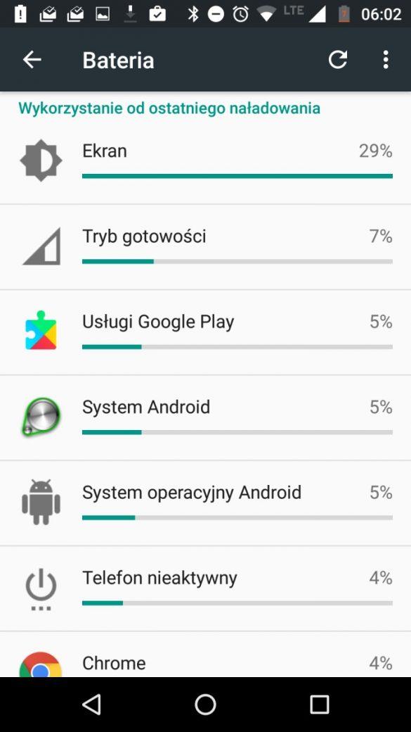 Czas pracy na jednym ładowaniu baterii Lenovo Moto Z Play - 90sekund.pl