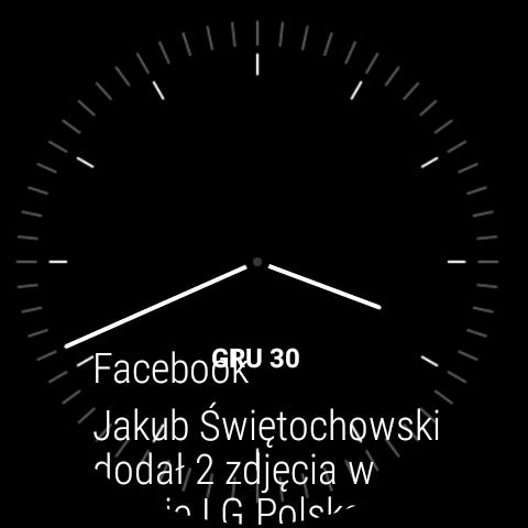 Android Wear 1.5 na LG Watch Urbane 2nd Edition - Pulpit główny i jego personalizacja - 90sekund.pl