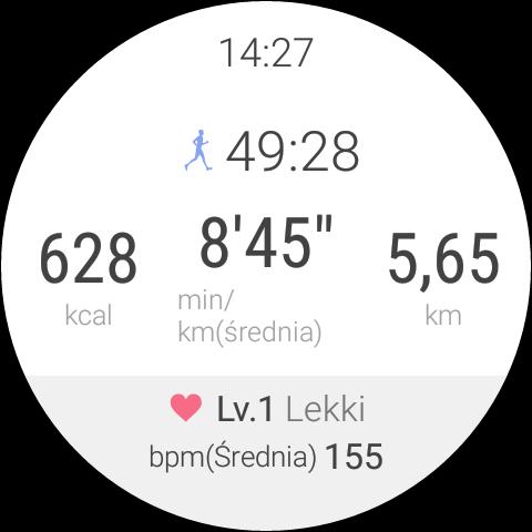 Android Wear 1.5 na LG Watch Urbane 2nd Edition - Aplikacja do treningu LG Health - 90sekund.pl