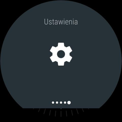 Android Wear 1.5 na LG Watch Urbane 2nd Edition - Górna belka z szybkimi funkcjami i ustawieniami - 90sekund.pl