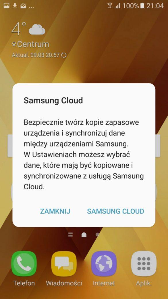 Warto postawić na Samsunga Galaxy A5 2017, z kórym dostajesz efektywną Chmurę na kopię praktycznie wszystkich danych - recenzja 90sekund.pl