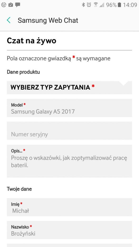 Opieka posprzedażowa nad Galaxy A5 2017 - 90sekund.pl