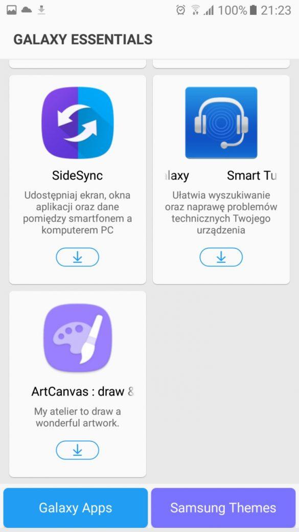 Galaxy Apps i Galaxy Essentials - bonusy od Samsunga dla SGA5 2017 - recenzja 90sekund.pl
