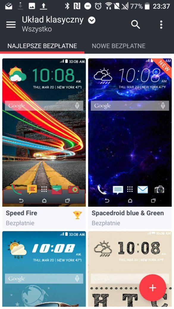 Aplikacja / Sklep HTC z motywami - HTC U Play - 90sekund.pl