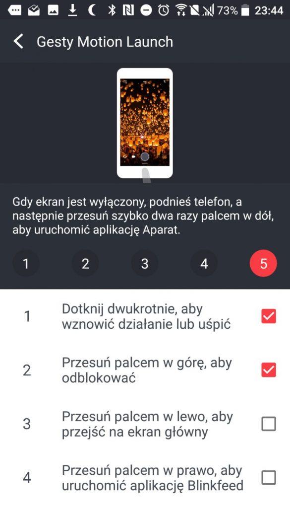 Gesty Motion Launch w HTC U Play - 90sekund.pl