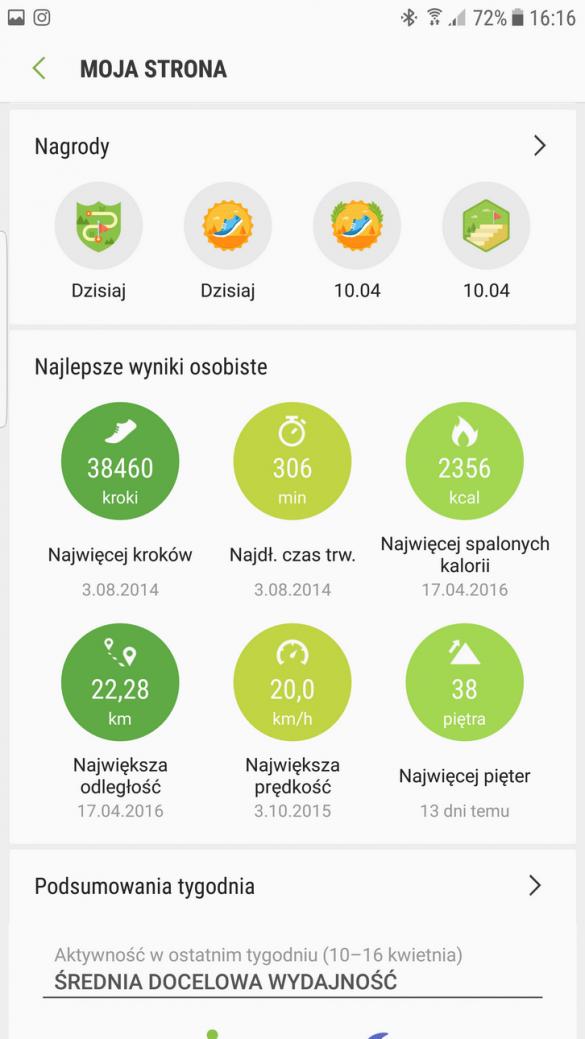 Samsung Gear S3 Frontier (SM-R760) - SHealth -90sekund.pl