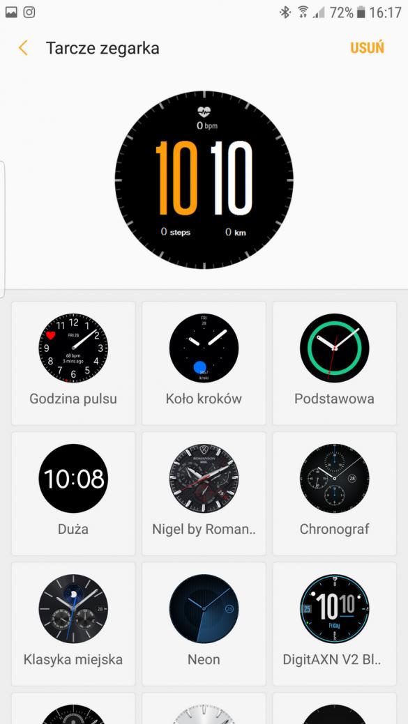 Samsung Gear S3 Frontier (SM-R760) - Tarcze - 90sekund.pl