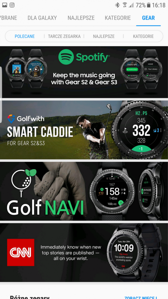 Samsung Gear S3 Frontier (SM-R760) - Galaxy Apps -90sekund.pl