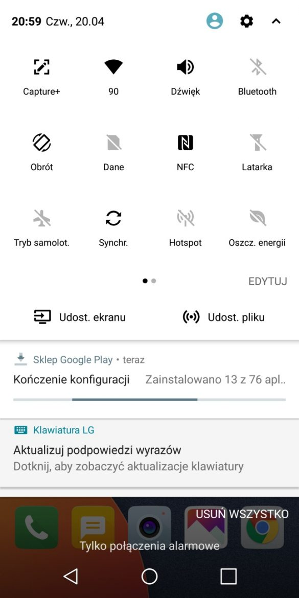 System Android w LG G6 - 90sekund.pl