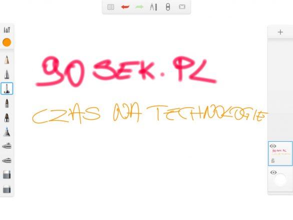 Sketchbook for Galaxy w Samsungu Galaxy Tab S3 - 90sekund.pl