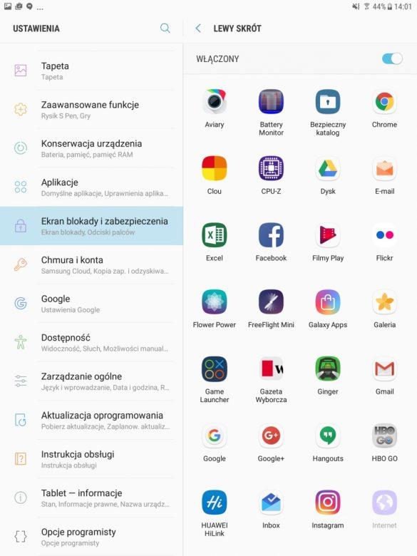 Ustawienia w Samsungu Galaxy Tab S3 - 90sekund.pl