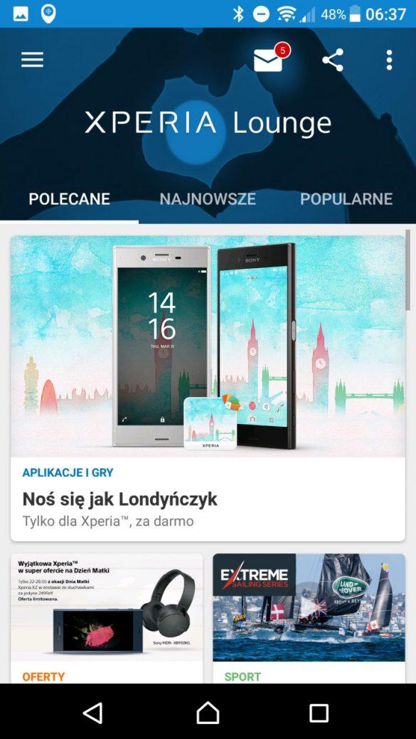 Sony Xperia XA1 Ultra - wygląd systemu Android i jego funkcje - 90sekund.pl