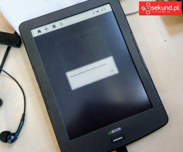 Błędy systemowe w czasie pracy inkBOOK-a Classic 2 od Arta Tech - 90sekund.pl