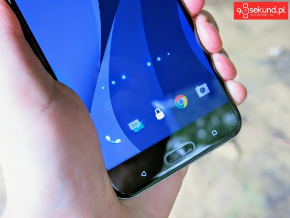 HTC U11 i funkcja HTC Edge Sense - ściskanie obudowy telefonu (widoczne kropki i delikatne kurtyny przy krawędziach) powoduje włączenie np. aparatu. Tutaj widoczny krok pierwszy - recenzja 90sekund.pl