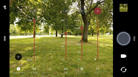 HTC U11 - aplikacja fotograficzna z nastawami w Trybie Pro - 90sekund.pl