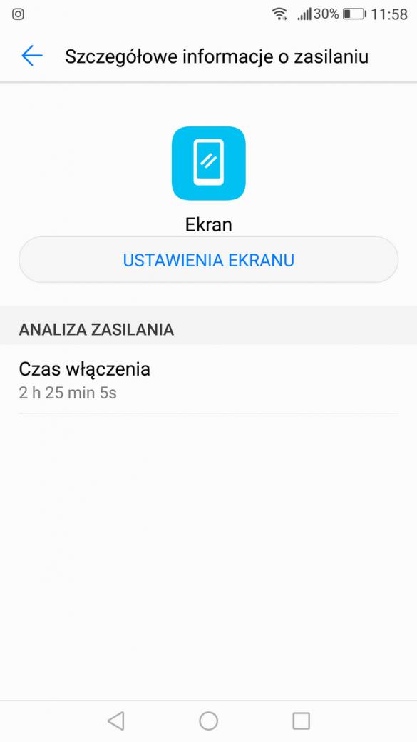 Honor 8 Pro - Przykładowe zużycie baterii - recenzja 90sekund.pl
