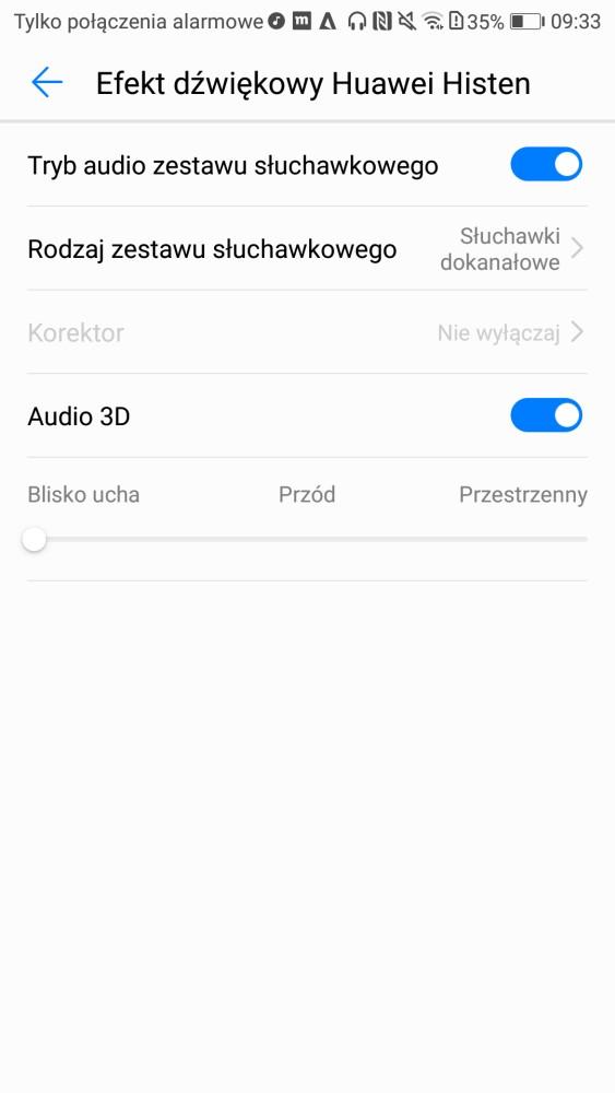 Muzyka i jej ustawienia w Honorze 9 - recenzja 90sekund.pl