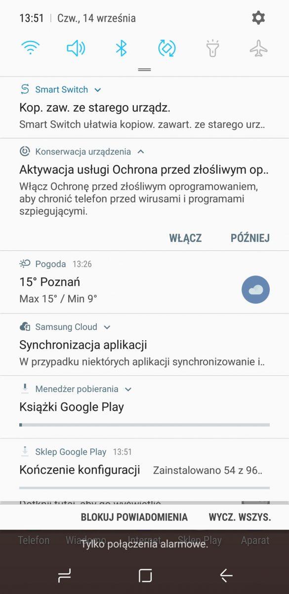 Interfejs Samsunga Galaxy S8 - 90sekund.pl
