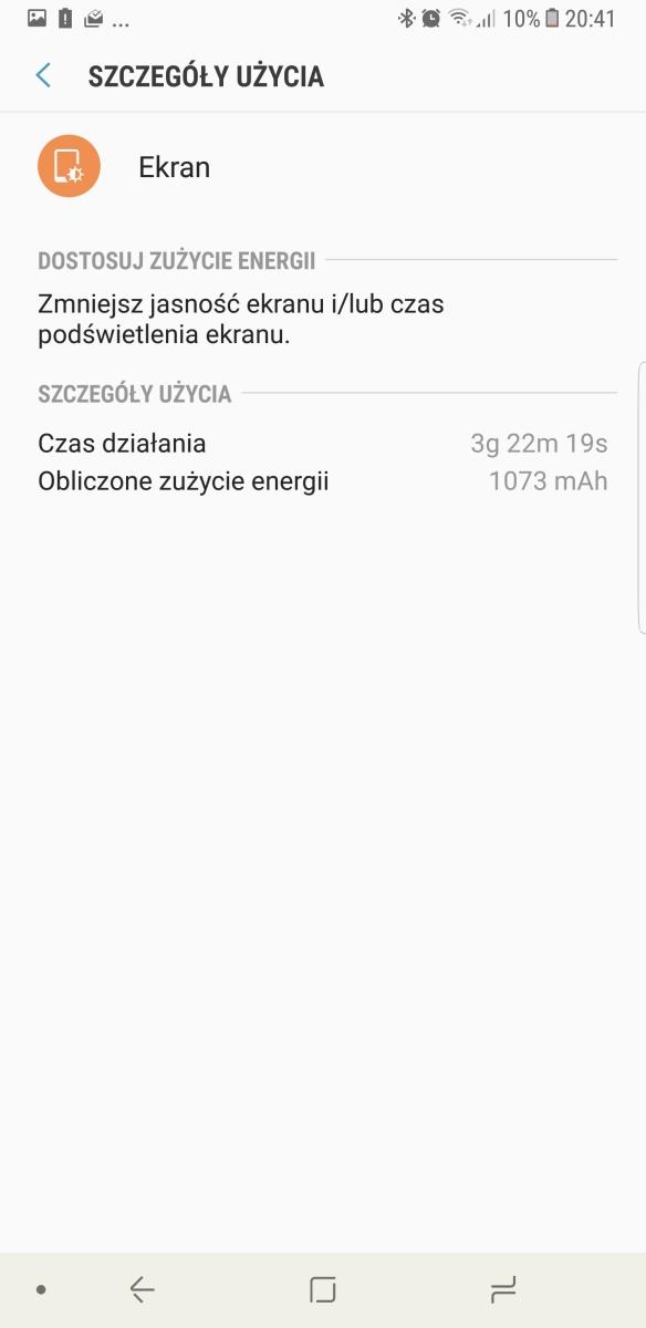 Czas pracy na baterii - Samsung Galaxy Note8 - recenzja 90sekund.pl