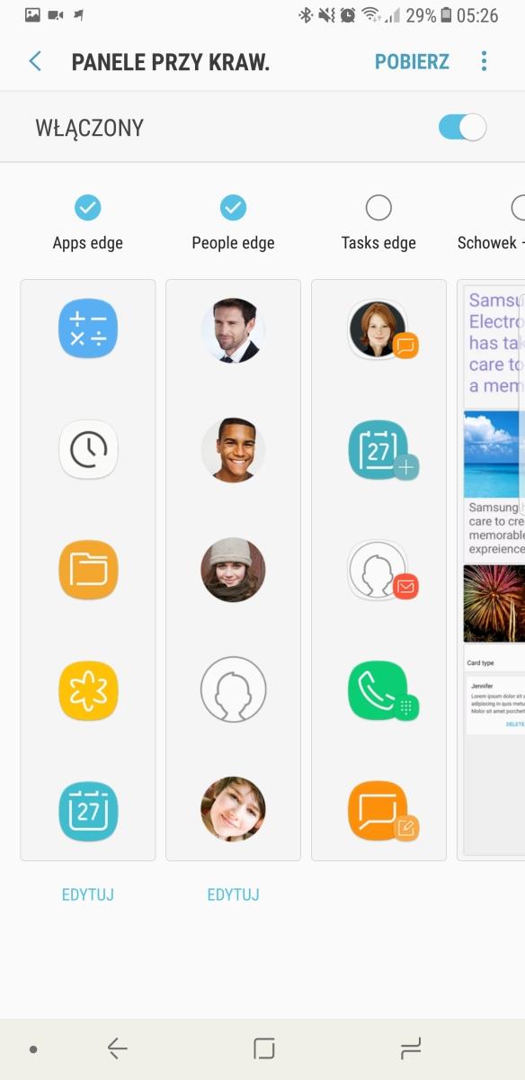 Ekran przy krawędzi - Samsung Galaxy Note8 - recenzja 90sekund.pl
