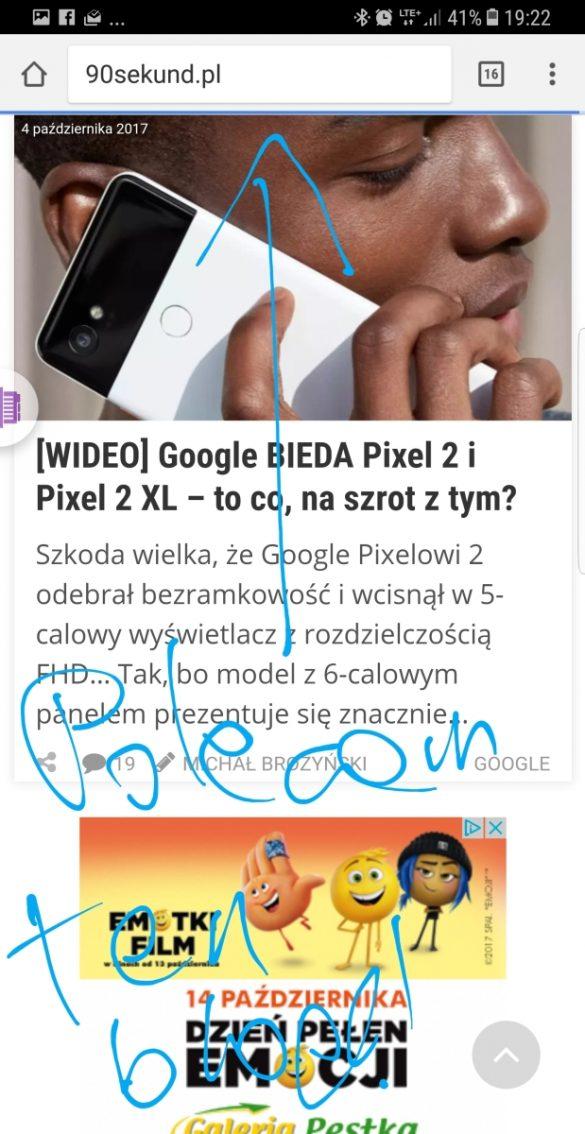 Pisanie po ekranie - Galaxy Note8 - recenzja 90sekund.pl