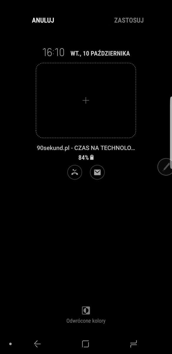 Ustawienia ekranu Always-On-Display w Galaxy Note8 - recenzja 90sekund.pl