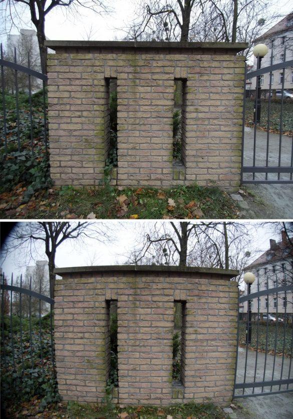 Do góry zdjęcie JPEG, poniżej RAW z dystorsjami - Hasselblad True Zoom - 90sekund.pl