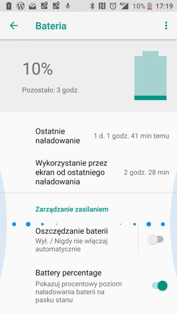 Czas pracy HTC U11 life na baterii - recenzja 90sekund.pl