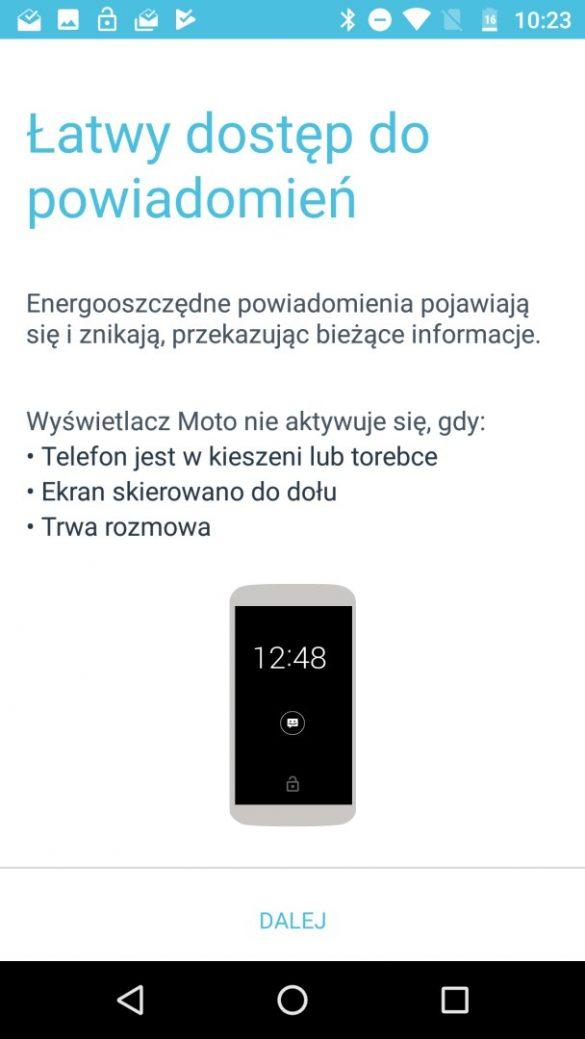 Funkcje smart i gestów Moto w Moto X4 - recenzja 90sekund.pl