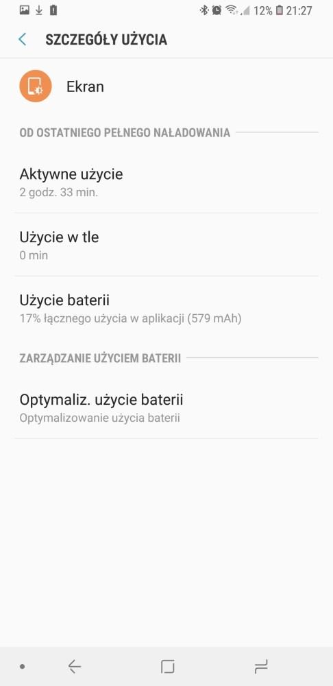Czas pracy Galaxy S9+ na baterii - 90sekund.pl