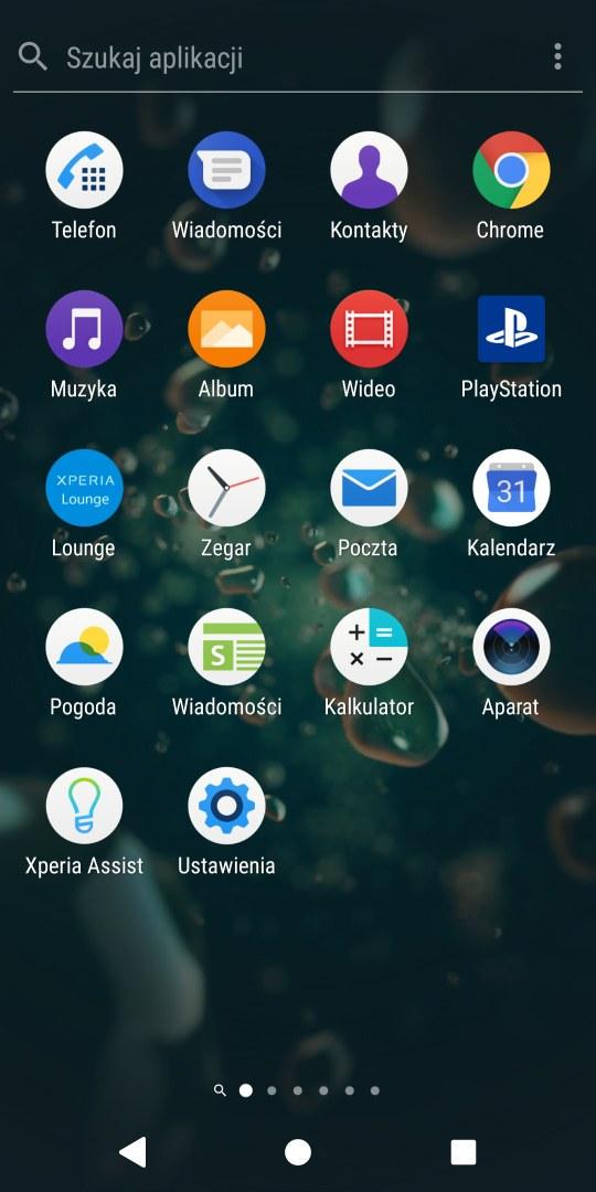 Wygląd systemu Android w Sony Xperii XZ2 - 90sekund.pl