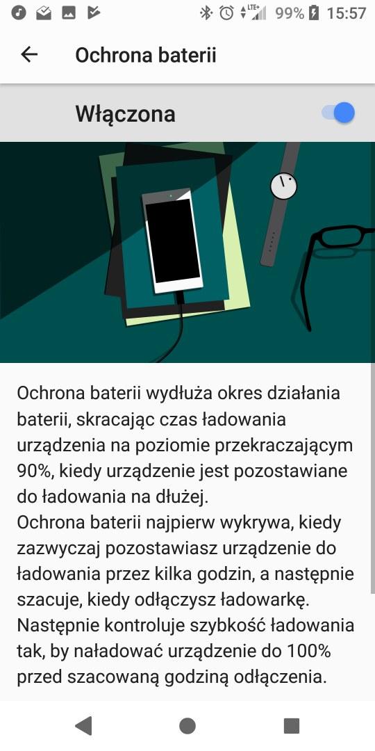 Ochrona baterii w Sony Xperii XZ2 - 90sekund.pl