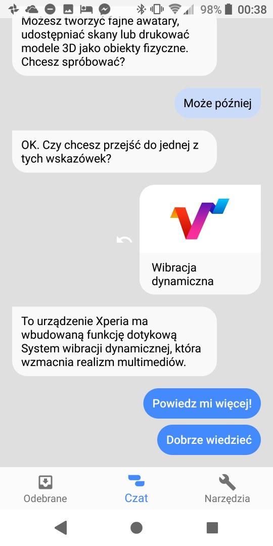 Czat z Sony Xperią XZ2 - 90sekund.pl