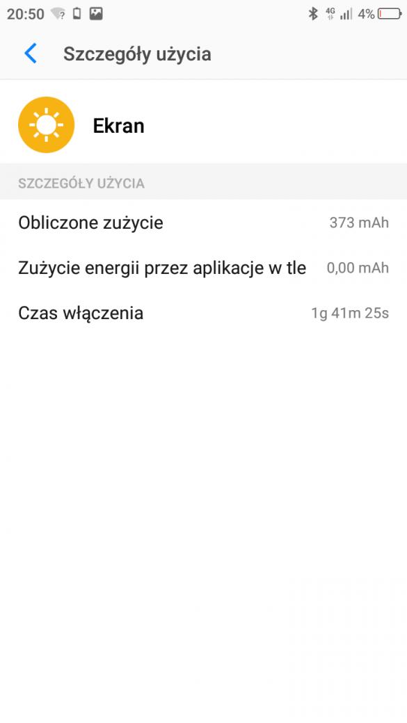 Przykładowy czas pracy TP-Link Neffos C7 - 90sekund.pl