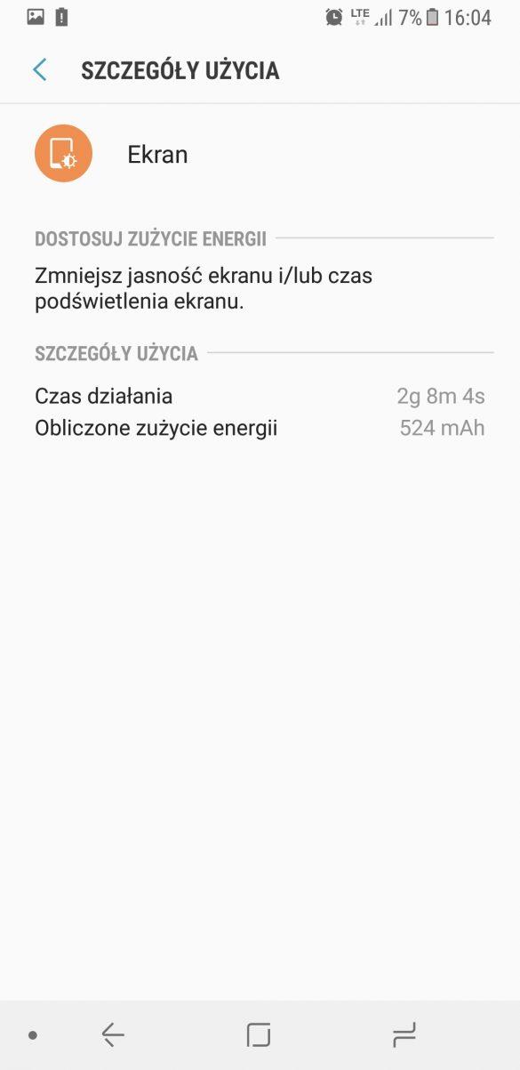 Czas pracy Samsunga Galaxy A8 na baterii - recenzja 90sekund.pl