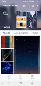 Wygląd systemu w Galaxy A8 - recenzja 90sekund.pl