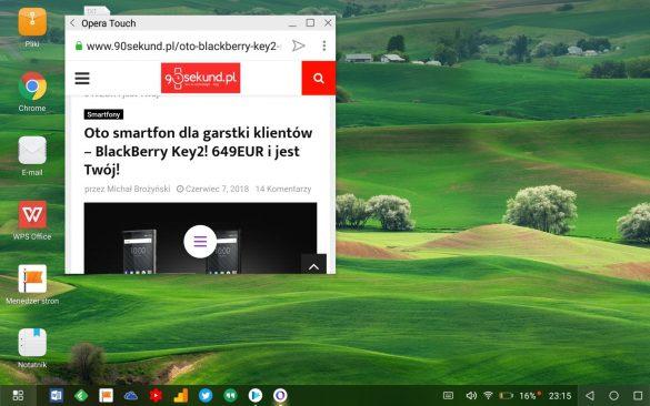 Huawei MediaPad M5 i Tryb Pulpitu - recenzja 90sekund.pl