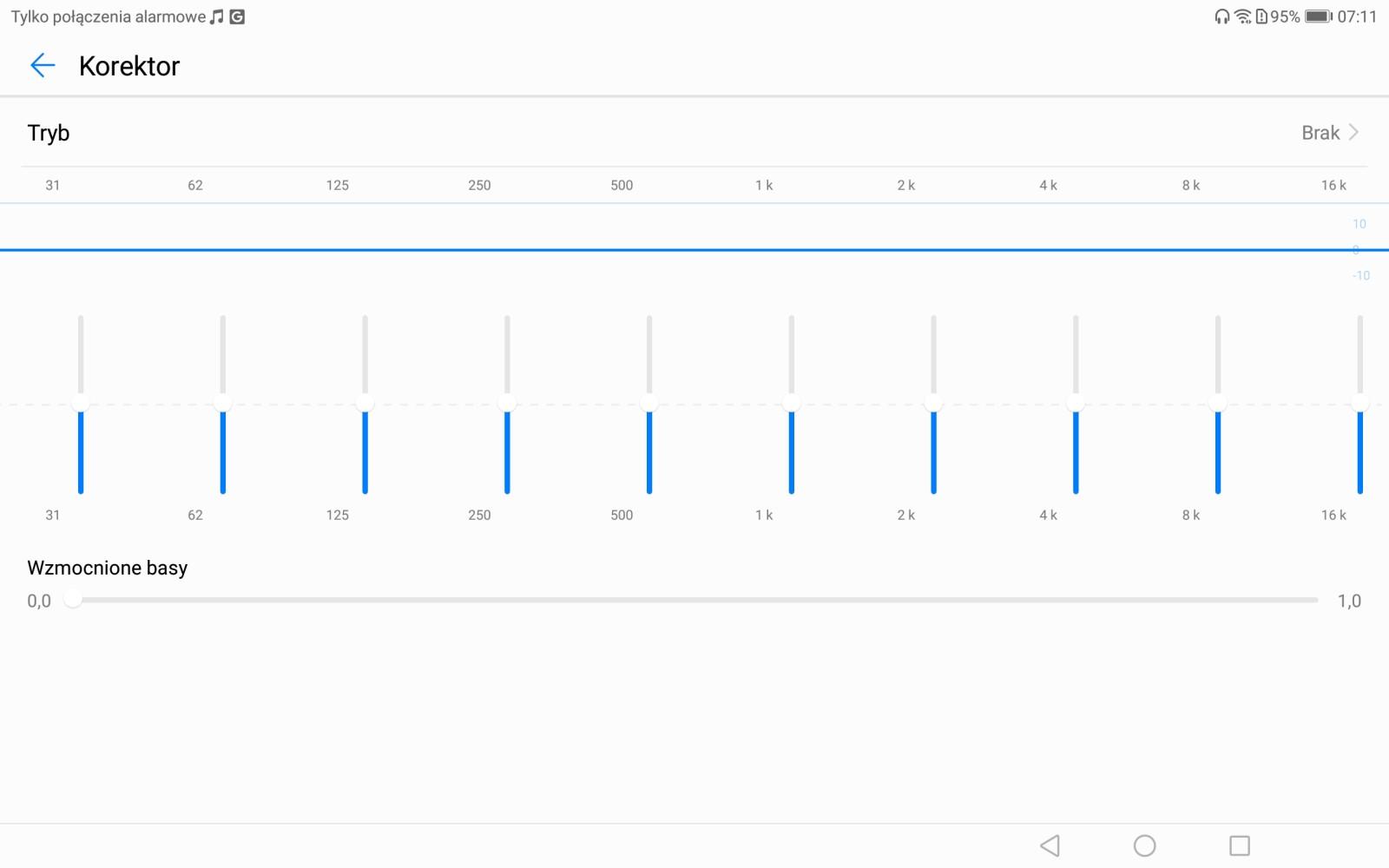 Ustawienia Huawei Histen na tablecie MediaPadzie M5 - recenzja 90sekund.pl