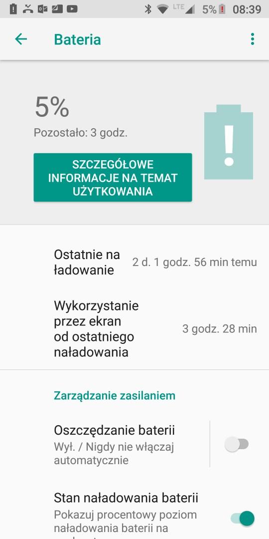 Czas na baterii w Moto G6 Plus - recenzja 90sekund.pl