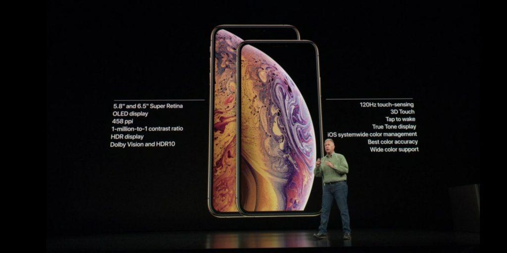Konferencja Apple - specyfikacja wyświetlaczy w iPhone Xs i Xs Max