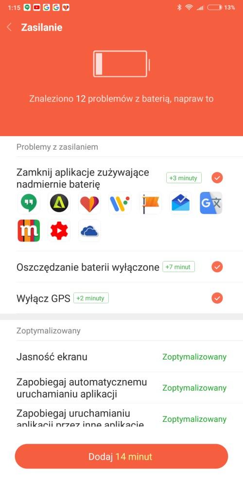 Zarządzanie baterią w Xiaomi Redmi Note 5 - 90sekund.pl