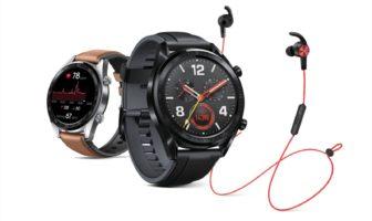 Huawei Watch GT i słuchawki AM61