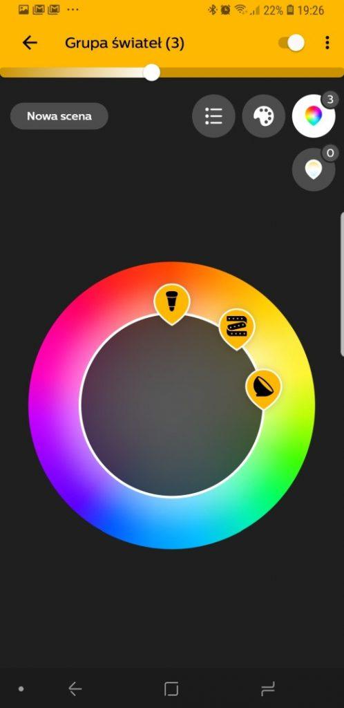 Aplikacja Philips HUE do sterowania oświetleniem HUE - 90sekund.pl - Michał Brożyński
