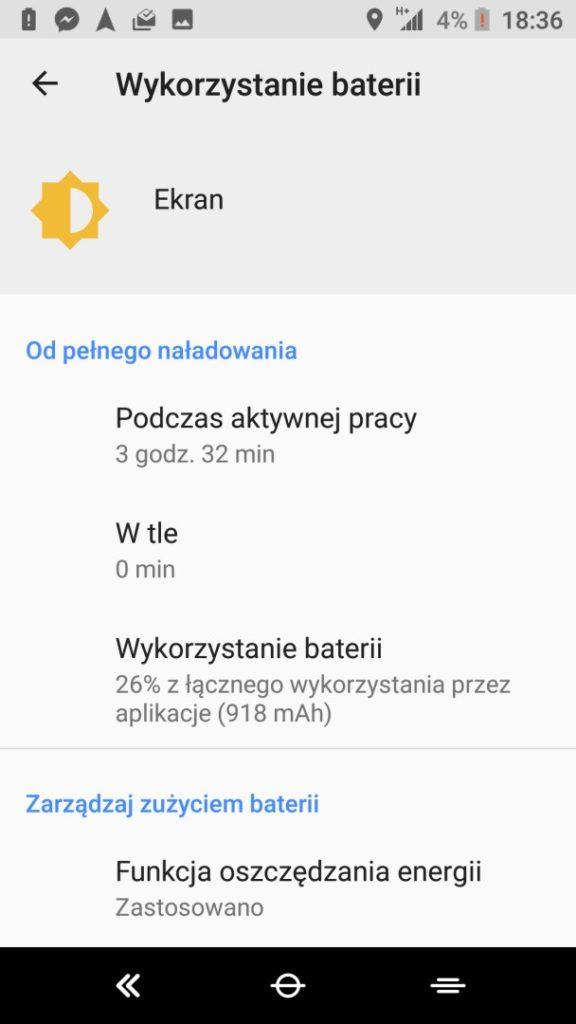 Czas pracy na baterii w XA2 Ultra - 90sekund.pl - Michał Brożyński